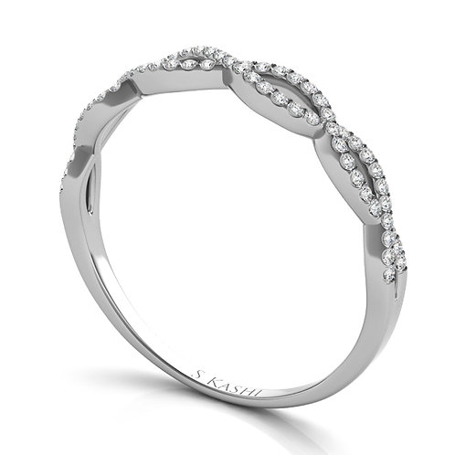 Style # EN7325-BWG  0.19 ctw. WHITE GOLD MATCHING BAND