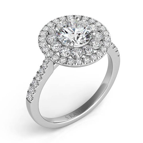 0.41 ctw. WHITE GOLD HALO ENGAGEMENT RING