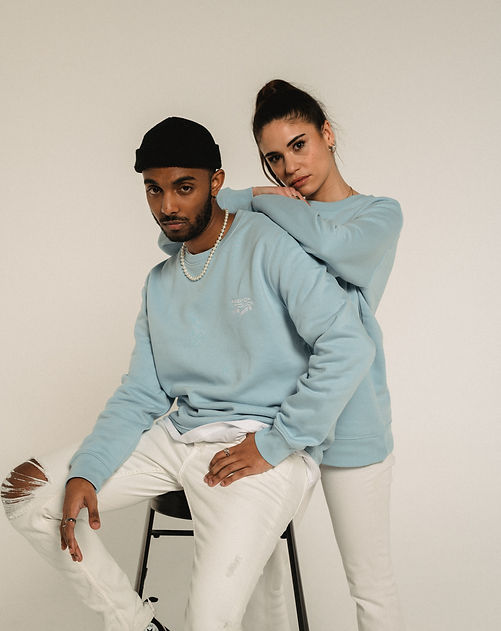 French Touch Vibes sweat sky blue