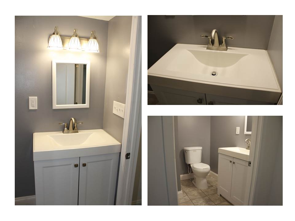 The New Basement Sink and Toilet
