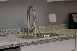 New faucet and kitchen sink