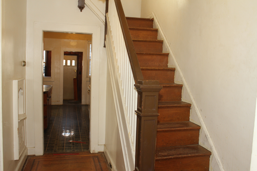 Stairs going to the 2nd floor