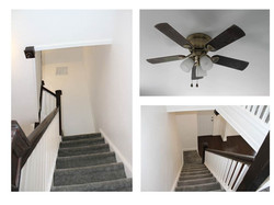The New Stairs and Ceiling Fan