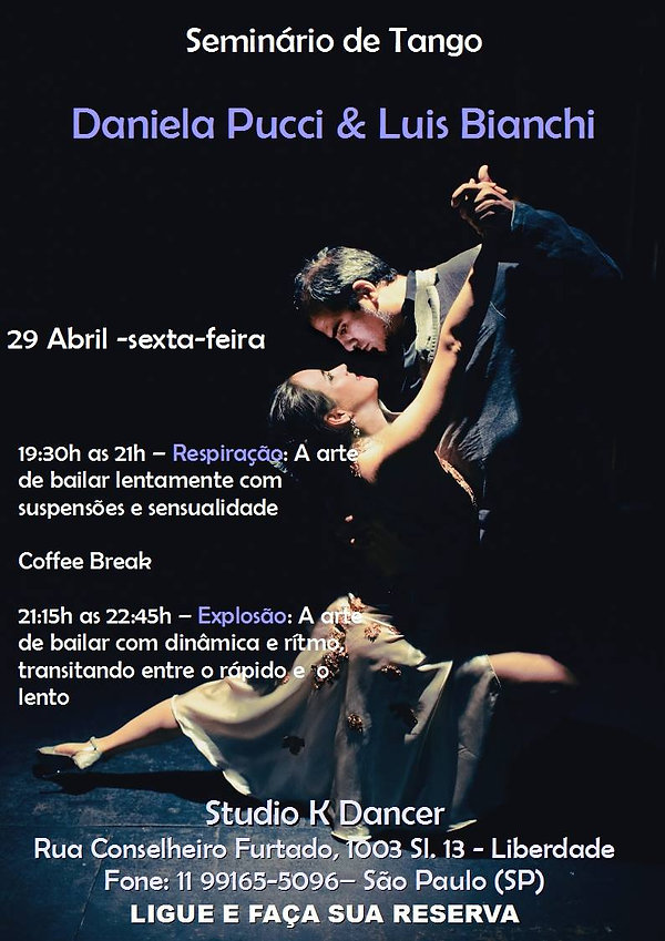 Seminário de Tango em SP - 29 de abril