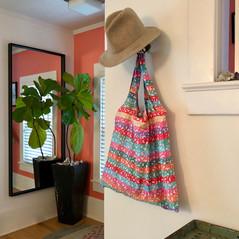 Random Stripe Nylon Bag & Pouch, 2017
