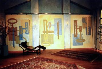 Q2 Television Mural / Backdrop, 1996