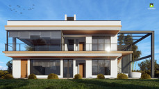 Proposed contemporary residence building block at Ranchi