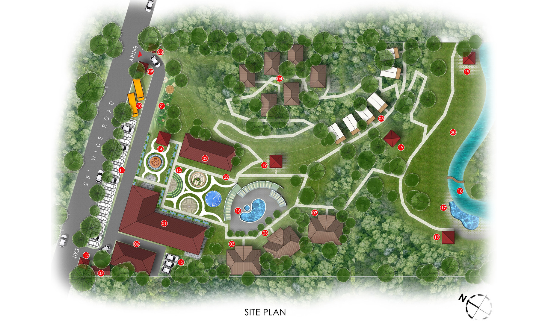 Eco Resort Site plan