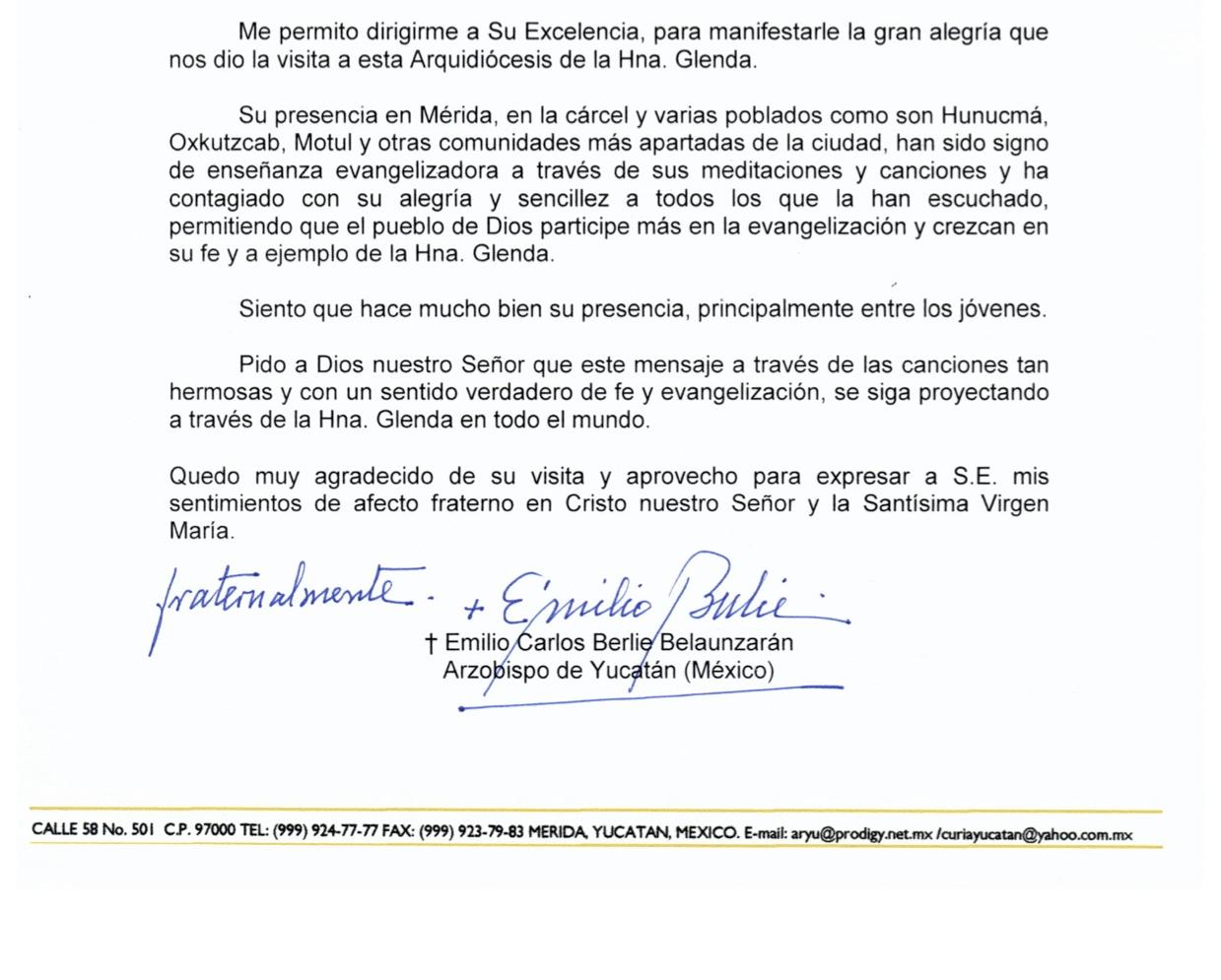 ARZOBISPO DE MERIDA, MEXICO