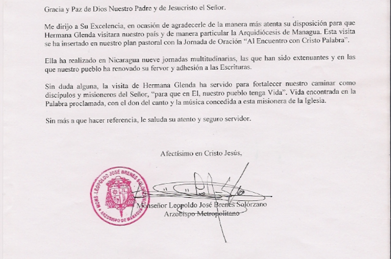 ARZOBISPO DE MANAGUA, NICARAGUA
