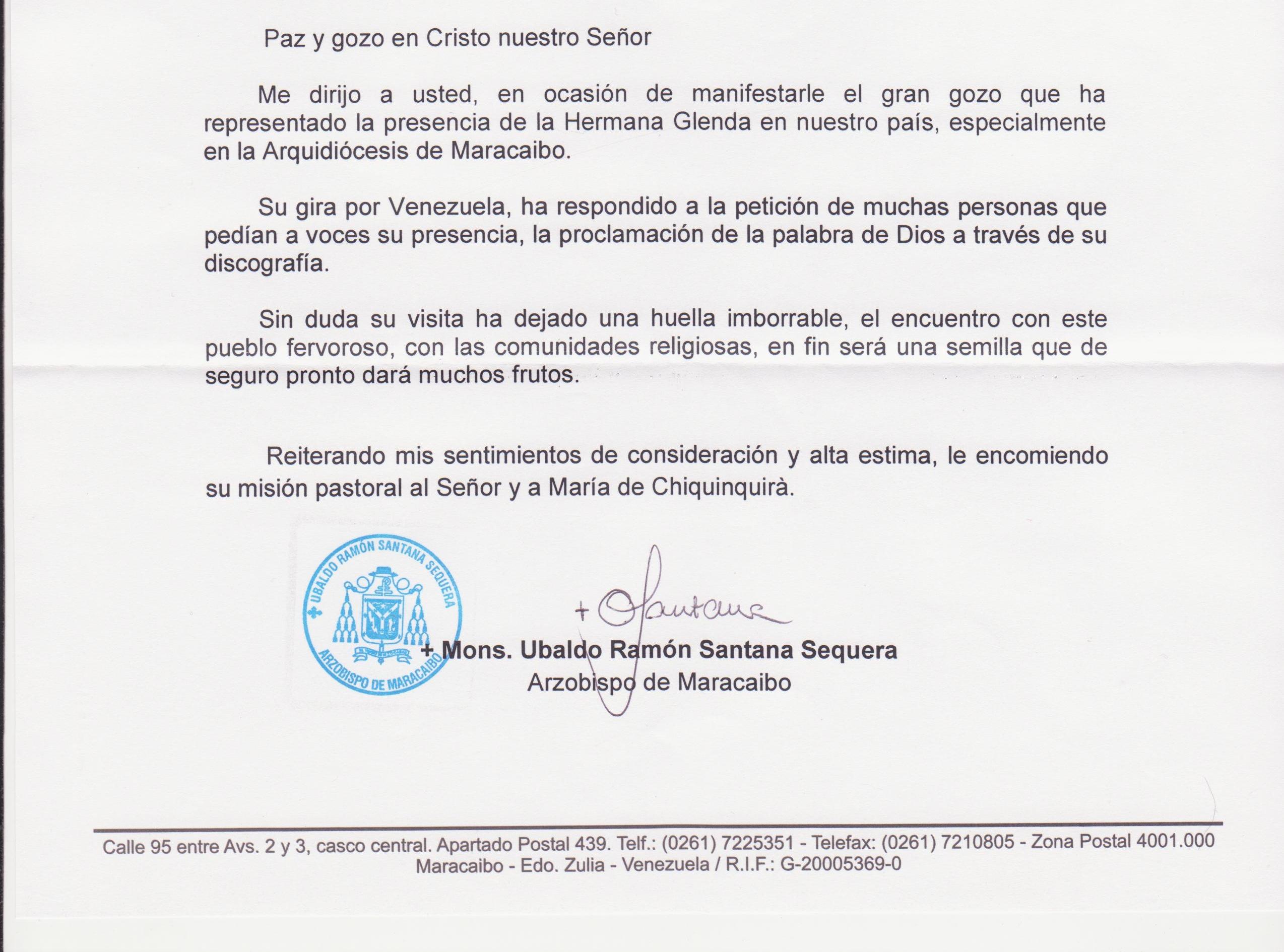 ARZOBISPO DE MARACAIBO, VENEZUELA