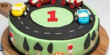 Race Track Fondant Cake