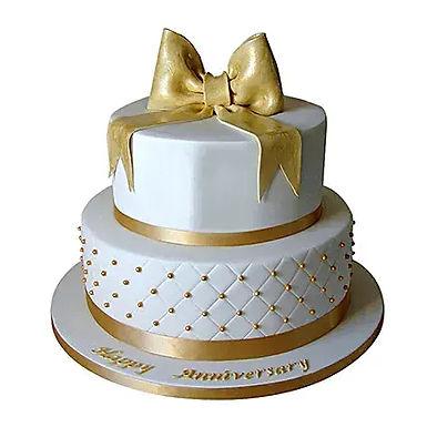 2 Tier Royal Anniversary Cake