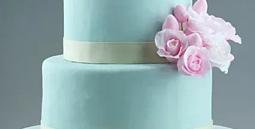 Two Tier Floral Designer Truffles Cake