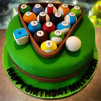 Pool Game Fondant Cake