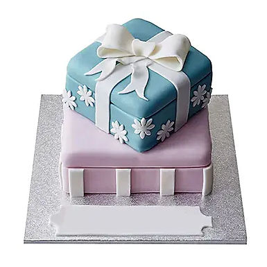 2 Tier Gift boxes Cake