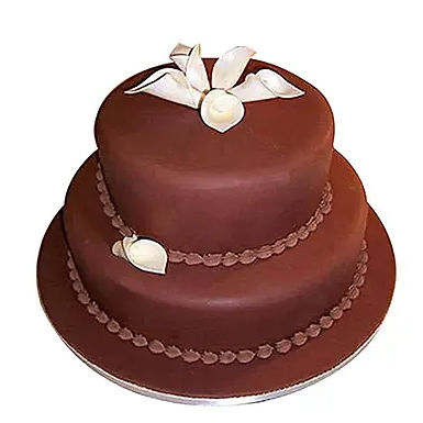 2 Tier Fondant Truffle Cake