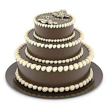 3 Tier Choco Fondant Cake