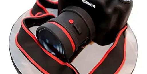 Canon Camera Fondant Cake