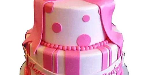 Cute Pink Gift Cake
