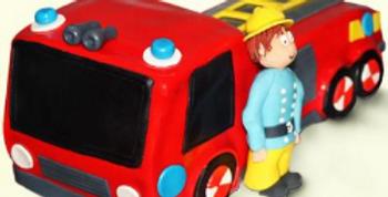 Fire Brigade Fondant Cake