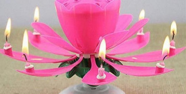 The Rose Music Candle
