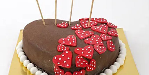 Lovely Red Hearts Cake