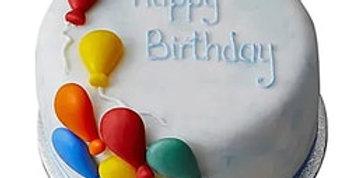 Happy Birthday Fondant Chocolate Cake