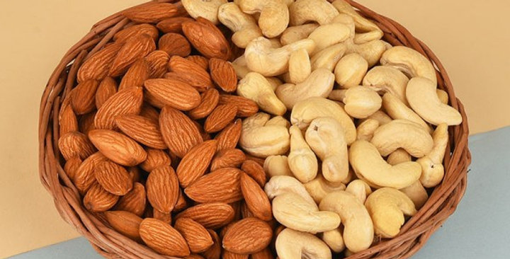 Basket of Almonds and Cashews