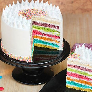 Delectable Rainbow Cake