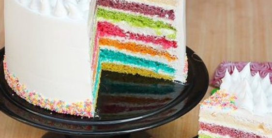 Delectable Rainbow Cake