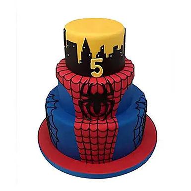 3 Tier Spiderman Cake