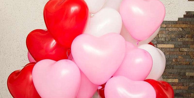 Assorted Heart Balloons