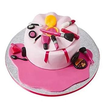 Makeup Kit Fondant Cake