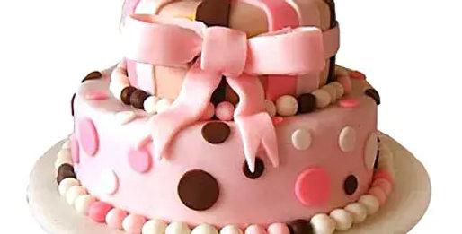 2 Tier Elegant Pink Cake