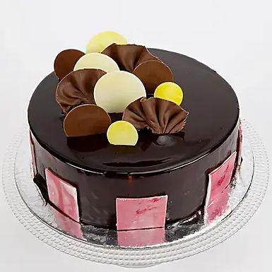 Chocolate Coin Truffle Cake