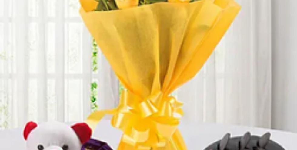 Yellow Roses N Chocolate Hamper Combo