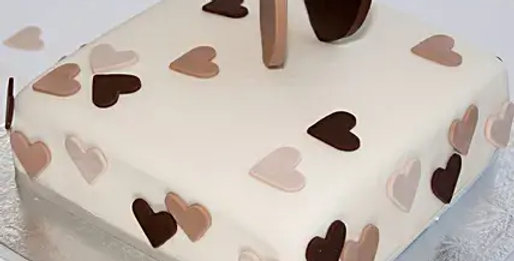 Little Hearts Fondant Cake