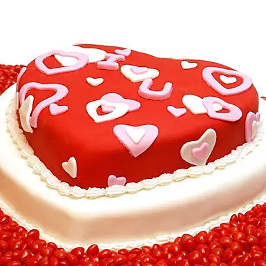 Red Heart Truffle Cake