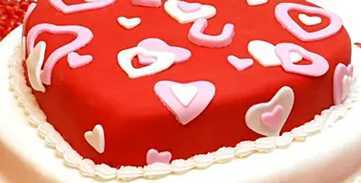 Red Heart Truffle Cake