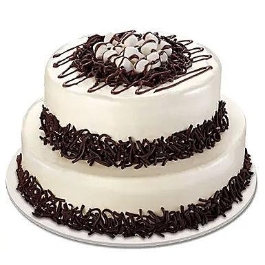 2 Tier Cream Cake