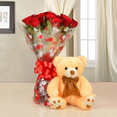 Lovely bouquet of Teddy