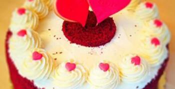 Little Hearts Velvet Cake