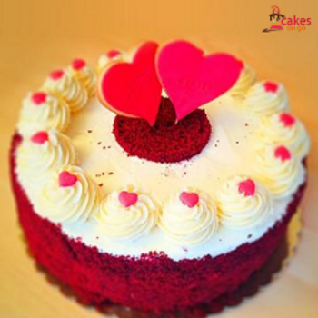 Little Hearts Velvet Cake