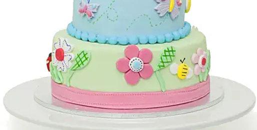 Two Tier Garden Cake