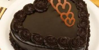 Choco Truffle Heart Cake