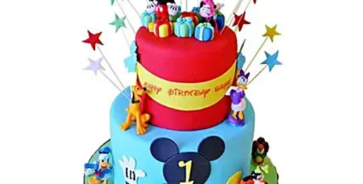 2 Tier Disney Cake