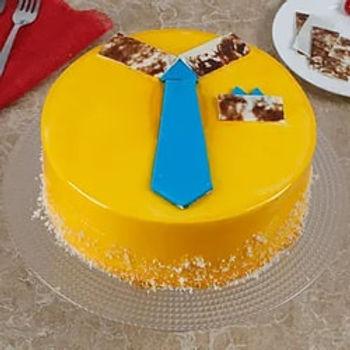 Bright and Delicious Mango Cake