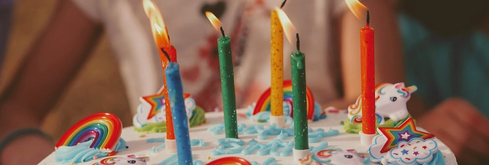 Colored Candles Set