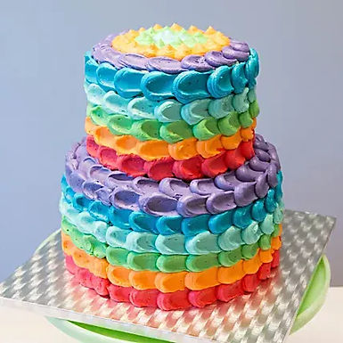 Two Tier Rainbow Chocolate Cake